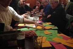 Index card game in the pub