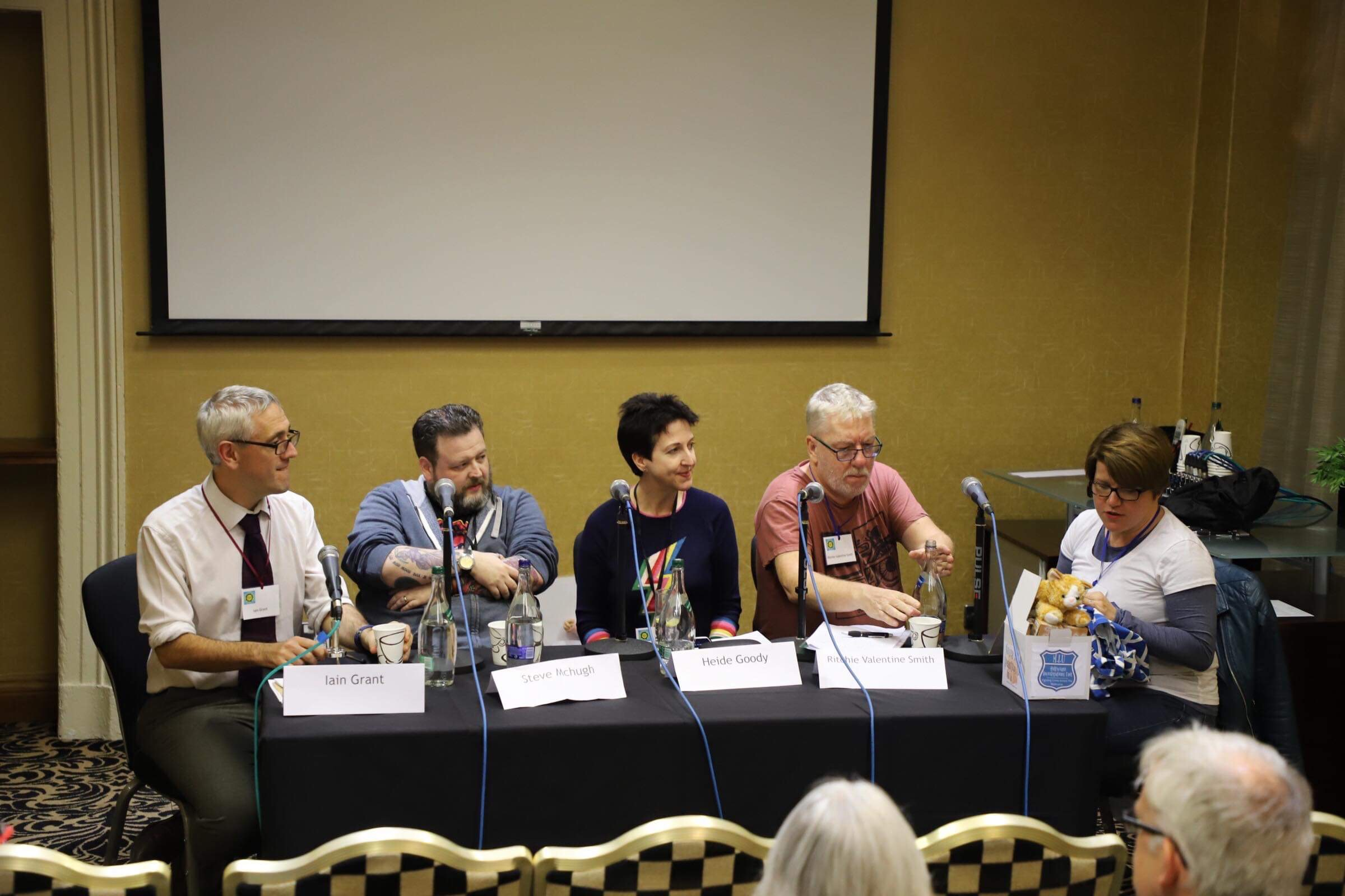 Self publishing panel: Iain Grant, Steve McHugh, Heide Goody, Ritchie Valentine Smith, Rachel McLean