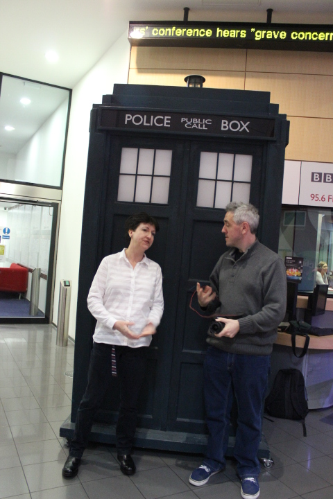 Heide and Iain at the BBC