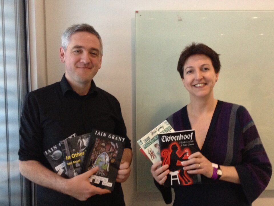 Iain Grant and Heide Goody at Nottingham Festival of Words