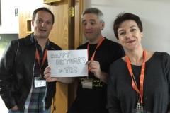 Heide Goody, Iain Grant and James Brogden at Fantasycon 2015